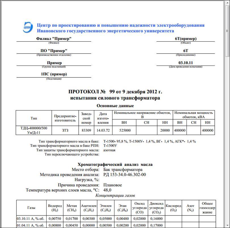 бланк протокола испытания трансформаторного масла - фото 10