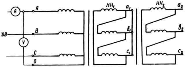 Схема измерений Zк