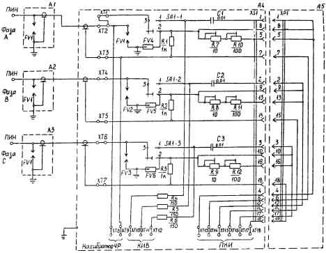 П3.1.  Принципиальная электрическая схема устройства присоединения объекта УПО I. 9-14.